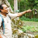 John Chuc with a tarantula