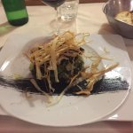 Highly recommend to try the dish of the day. I had the  grilled codfish and greens with olives.
