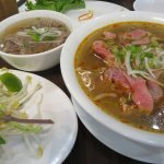 Pathetic Satay pho with rare beef but GREAT beef brisket in regular broth