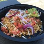 Mrs. M's Groundbeef on Rice Burrito Bowl