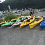 Kayaks to load up.