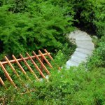 Steps to climb up to Mt. Shijing Park