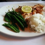 Two dinner special: Bang Bang Shrimp, grouper & shrimp & wild caught salmon