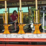 That is me on the trolley.