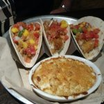 Fish tacos with Mac and cheese