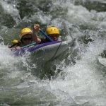"""2 of our scouts conquering the rapid """"Big Daddy"""""""