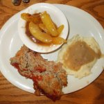 Meatloaf and fried apples-6-29-16