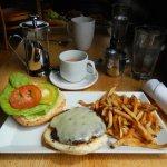 Delicious Lamb Burger and excellent tea