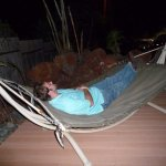 Hammock outside on the patio