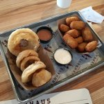 Onion Rings and Sweet Potato Tots