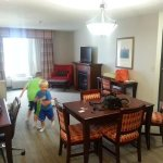 The 1 bedroom suite with plenty of room for kids to burn off energy!
