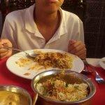 My son enjoying his yummy dish