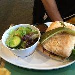 Chipotle BBQ chicken sandwich @ Westside Club