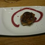 This was THE tapas of the evening. Some sort of sweet and salty duck liver naughtiness made to p