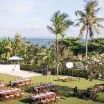 Wedding Reception set up to left of Makanda's Pool (closer to Kalima)