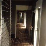 Parties communes et couloirs pour acceder aux chambres