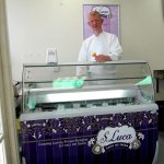 Owner Mike behind his new ice-cream display unit
