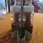 Condiments in the restaurant