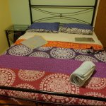 Double bed shared bath