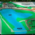 Mapa tátil, logo na entrada principal do Parque.