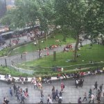 view from room overlooking Leicester Square