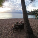 On the beach outside the Mauian