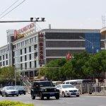 view of hotel from Zhushikou Avenue