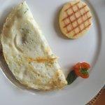 Omelet de claras con champiñones y espinacas