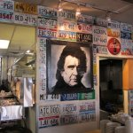 Blue Plate Diner - License Plate Wall Coverings