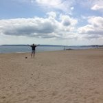 Boscombe beach all to ourselves