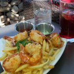 Happy Hour drinks and Tampura Shrimp