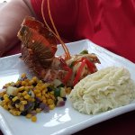Lobster, corn, mashed potatoes
