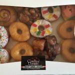 Kids enjoyed the sprinkle donuts. All were warm and very tasty