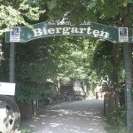 Entrance to the Biergarten