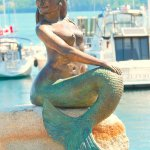 The Mermaid -  a bronze statue by Richard Klyver