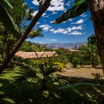 Overlooking the Andean mountains from the property