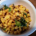 Cilantro-lime grilled corn was yummy