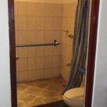 Large shower/toilet area