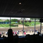 watching the races from our seats