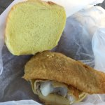Small walleye sandwich