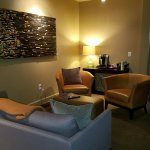 Comfy Amissville room, common area sofa and Keurig