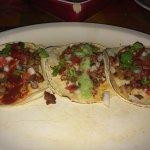 Beef/bean/cheese nachos & tacos al pastor