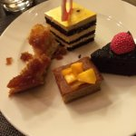 Variety of desserts - date pudding, etc
