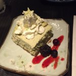 Matcha (green tea) cheese cake