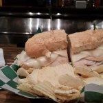 Stacked Turkey sandwich