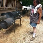 my brother brought his smoker