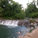 swimming at the Chickasaw park