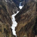 Grand Canyon of the Yellowstone and Lower Falls from Artist Point