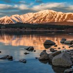 Lake Tekapo at Sunset, 2-minute walk from Henkel Hut.