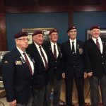 We The British Parachute Regiment Veterans at the Thayer Hotel with the American 101st Airborne